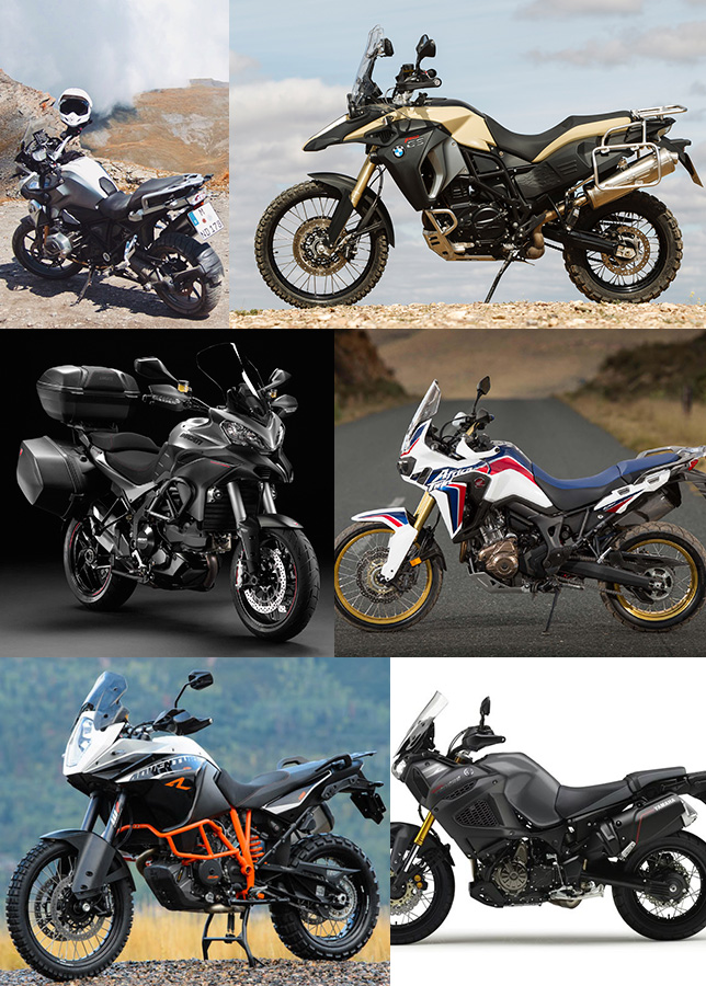 Travel 2-cylinder motorcycles