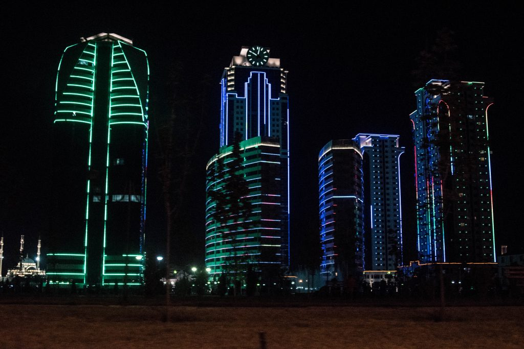 Grozny, the capital of Chechnya