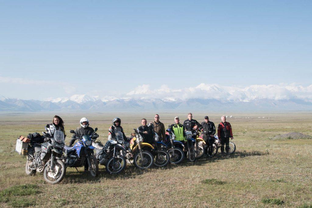 Me and my gang: a group of motorcyclists I traveled through Tajikistan with.