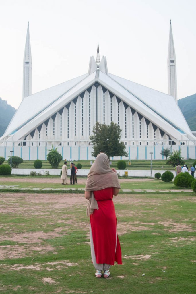 Faisal Mosque in Islamabad.