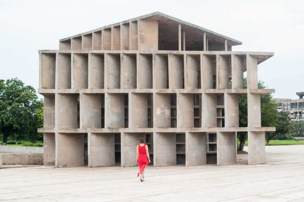 House of shadows in the capitol complex of Chandigarh.
